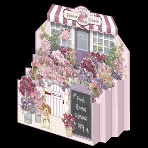 template diorama card flower shoppe diorama card 163 1 50 instant card