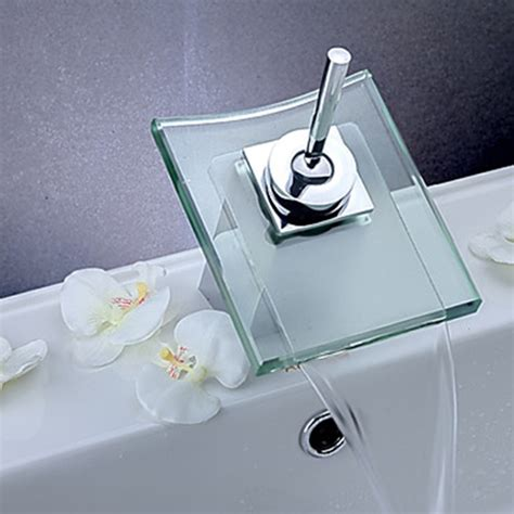 Exceptional Bathroom Sink Material Comparison #7: Contemporary_Waterfall_Bathroom_Sink_Faucet_(Chrome_Finish)_16.jpg