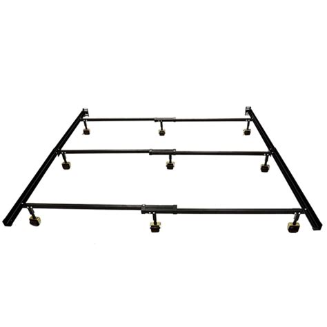 Metal Bed Frame With Wheels Size 9 Leg Metal Bed Frame With Locking Rug Rollers Casters Wheels Fastfurnishings