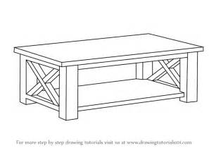 tisch zeichnen learn how to draw a coffee table furniture step by step
