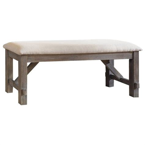 oak dining benches powell cafe turino dining bench in grey oak stain 457 260
