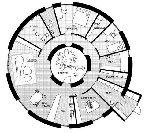 Atrium Ranch Floor Plans by Passive In The Round Momeld Modern Living Modern Design