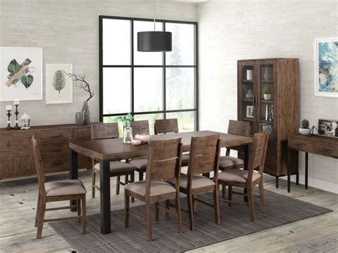 seville dark pine large dining table   chairs cfs