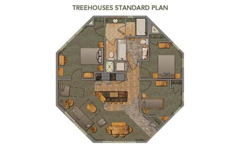 Disney Vacation Club Treehouse Villas Floor Plan - disney treehouse villas floor plan michael bathroom