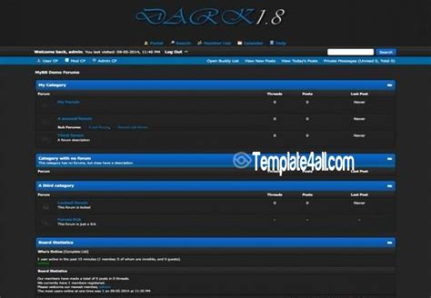 all black themes download free dark blue black grey mybb template download