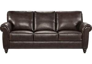 home lusso coffee bean leather sofa