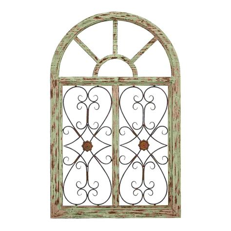 Shop Woodland Imports 29 In W X 46 In H Frameless Wood Garden Gate Wall Decor