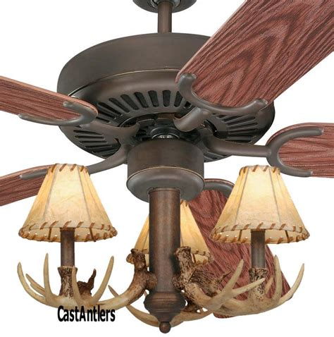 Antler Ceiling Fan With Light Outdoor Lighting 52 Quot 3 Light Antler Indoor Outdoor Ceiling Fan Rustic Lighting And Decor