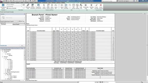 distribution board schedule template revit for mep