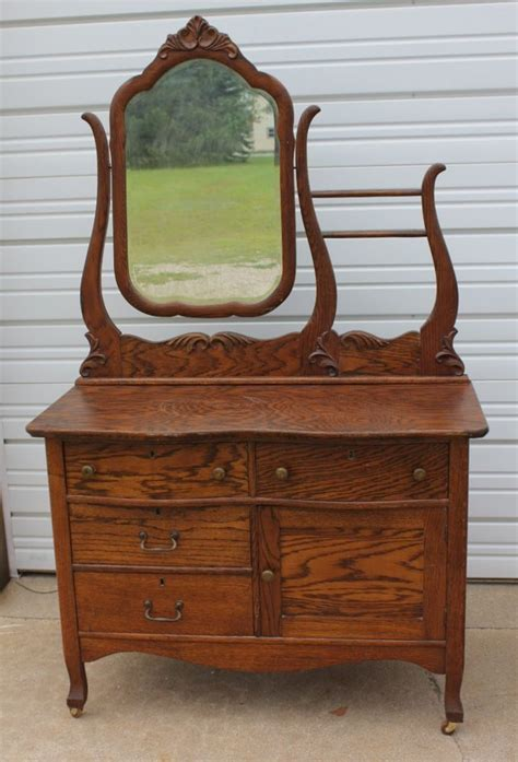 antique dresser with mirror and towel bar antique solid oak hotel washstand commode dresser w