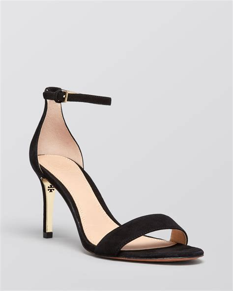 high heel sandals with ankle burch ankle sandals high heel in black