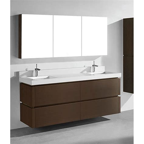 Modern Bathroom Vanities With Tops Madeli Cube 72 Quot Wall Mounted Bathroom Vanity For Quartzstone Top Walnut Free Shipping