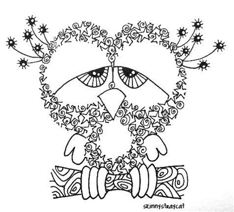 sleeping owl coloring page sleepy owl doodle aspa s world pinterest coloring