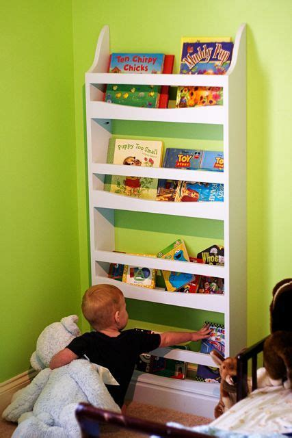 ana white front facing bookrack diy projects