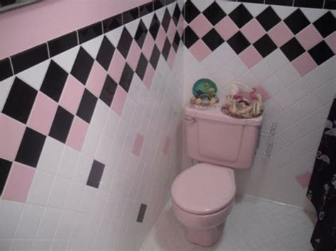 Black And Pink Bathroom Ideas by 33 Pink And Black Bathroom Tile Ideas And Pictures