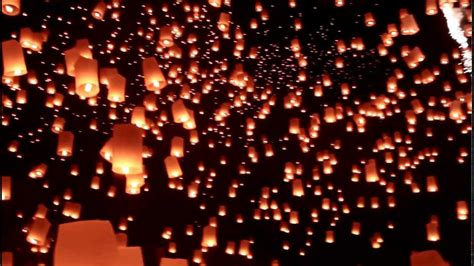 How To Make A Sky Lantern Out Of Paper - yee peng festival 2012 1080 hd breathtaking view of