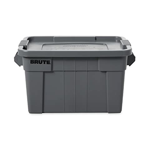rubber st storage containers rubbermaid commercial brute food storage tote with lid 14