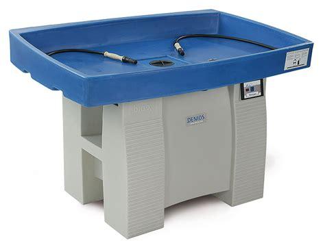 werkstatt waschtisch tavoli e banchi di lavaggio per la pulizia di pezzi senza