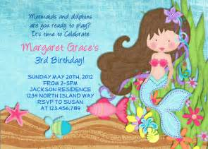 mermaid invitation mermaid the sea mermaid