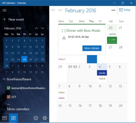 how to add calendar to windows 10 calendar app