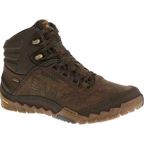 s merrell hiking boots merrell s annex mid tex hiking boots clay
