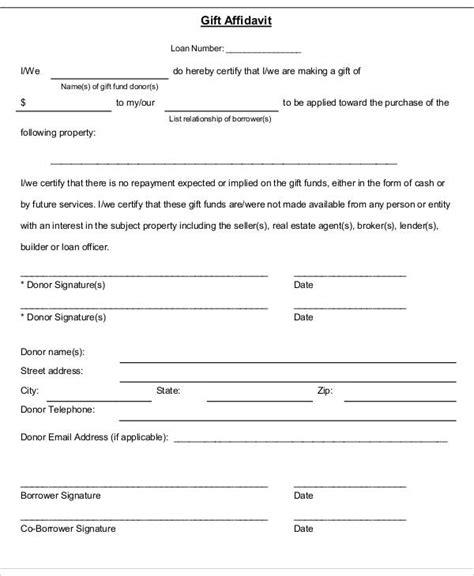Gift Letter Affidavit gift affidavit form gift ftempo