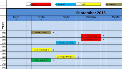 Monthly Calendar Template 2015 Excel
