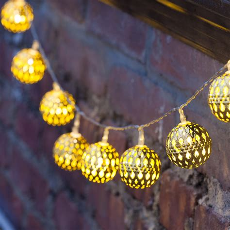 battery operated light string lights lit decor string lights decorative gold