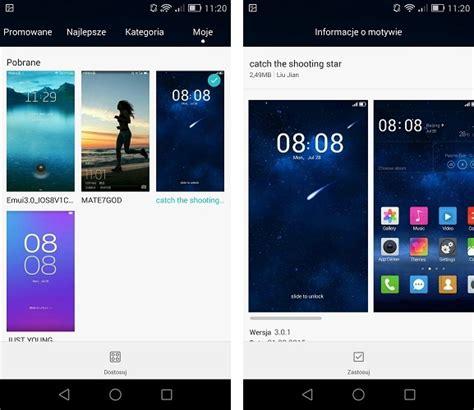 huawei hwt themes jak pobierać i instalować dodatkowe motywy w smartfonach