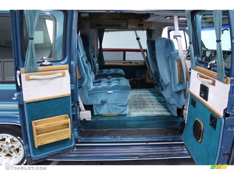 Chevy G20 Interior by Blue Interior 1993 Chevrolet Chevy G20 Passenger
