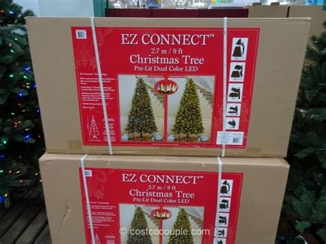 9 ft costco christmas tree ez connect 9ft pre lit led tree