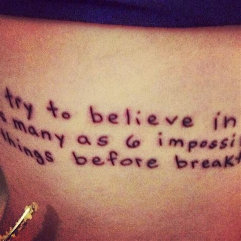 alice in wonderland quote tattoos in quote tattoos