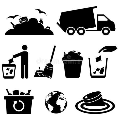 icone dell immondizia dei rifiuti e dello spreco