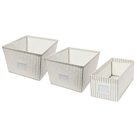 bed bath and beyond storage bins canvas storage bin in stripe bed bath beyond