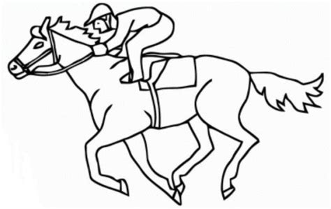 coloring pages of race horses race horse coloring page for prescool animal coloring