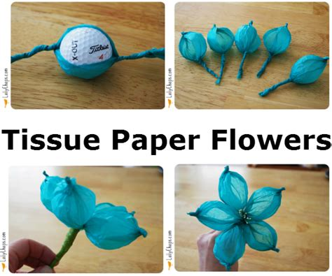 new paper craft tissue paper flowers simple home diy ideas