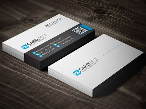 minimalist business cards templates psd clean minimal corporate business card template 187 cardzest
