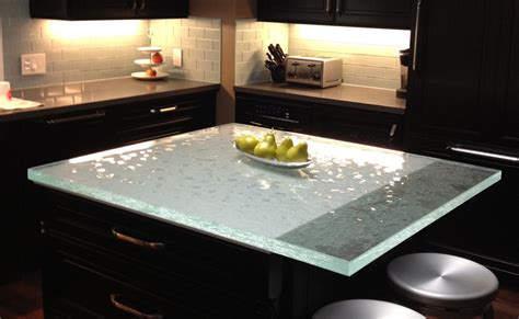 glass top kitchen island glass countertops chicago installation stone age