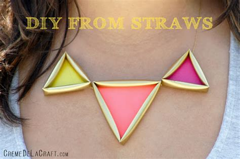 How To Make Necklace With Paper - make neon straw jewelry dollar store crafts