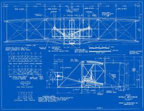 Drawing Blueprints measured drawings of the 1903 wright flyer plate 2 front and side