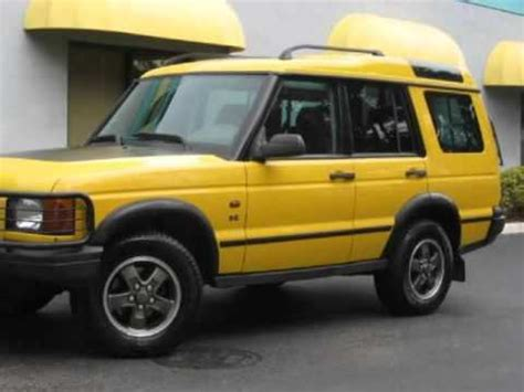 yellow land rover discovery 2002 land rover discovery ii se kalahari edition