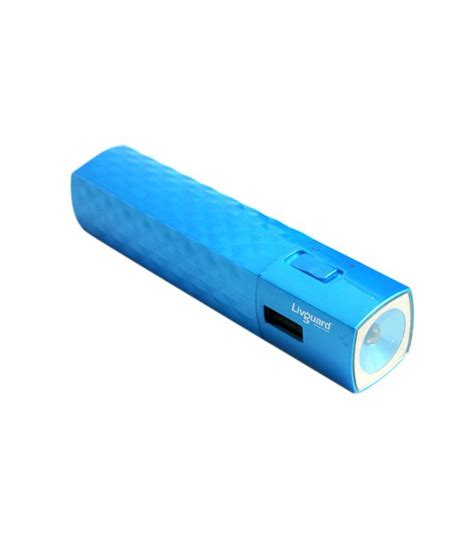 livguard 2200 mah power bank sb22t blue power banks