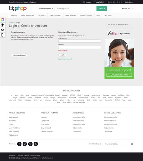 themeforest login page responsive html theme html bigshop by tvlgiao themeforest