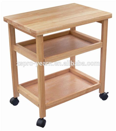 wooden kitchen trolleys modern design wooden kitchen trolley with 3 tiers and
