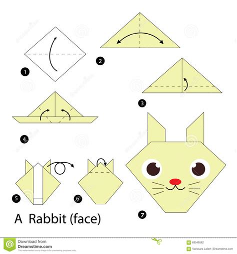 How To Make An Origami Rabbit - step by step how to make origami a rabbit