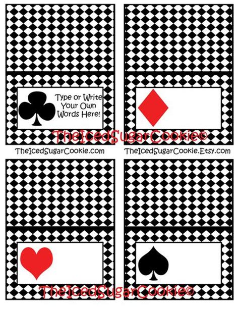 printable card deck alice in wonderland birthday party playing cards deck of