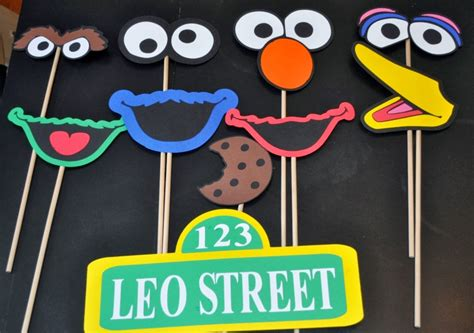 elmo photo booth props printable r r creations sesame street photo booth props