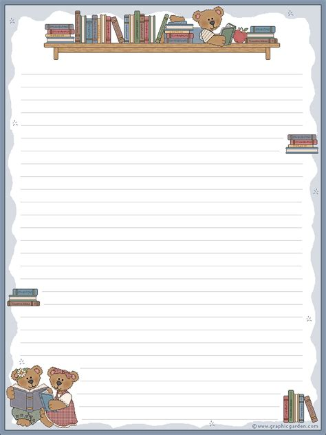 printable stationery books free printable stationery letter size