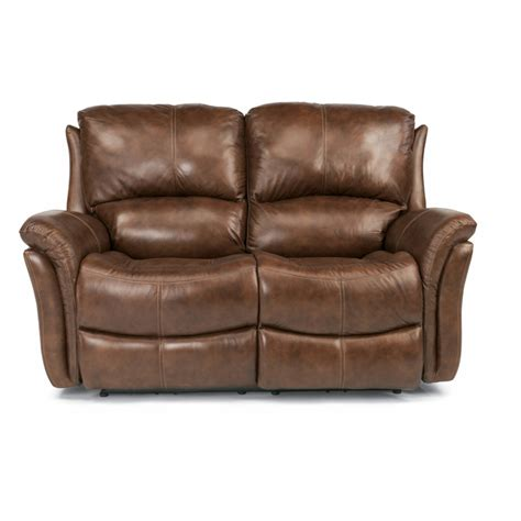 Flexsteel Reclining Loveseat by Flexsteel 1445 60p Dominique Leather Power Reclining
