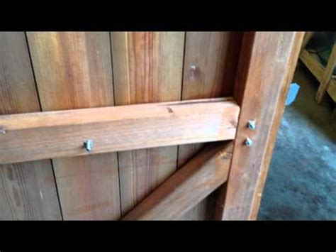 How To Hang A Shed Door by How To Hang A Shed Door With T Hinges With Pictures